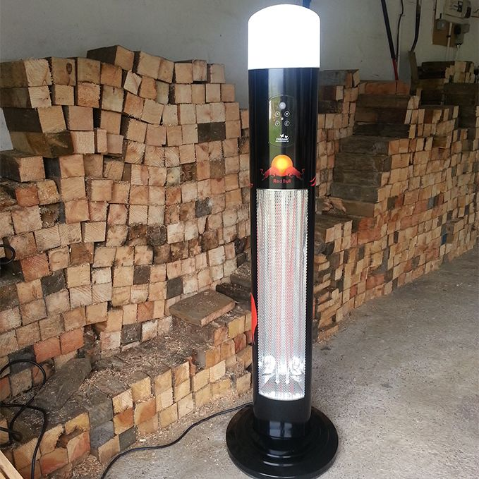 Personalise with your name or logo - Titan Infrared Patio Heater With 360° CFL Light