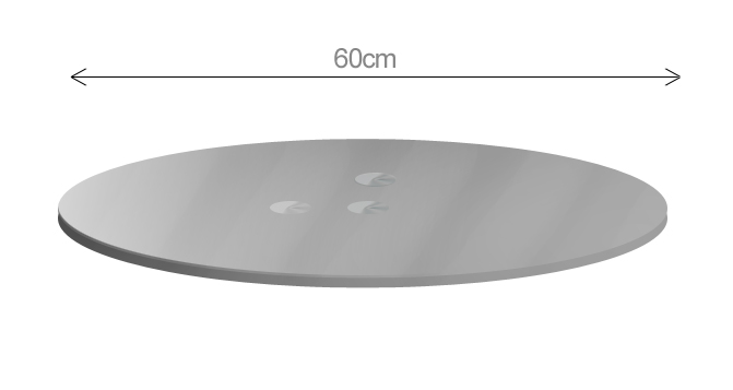 replacement cyclops 50cm diameter square or round glass table tops toughened smoked glass. Black Bedroom Furniture Sets. Home Design Ideas