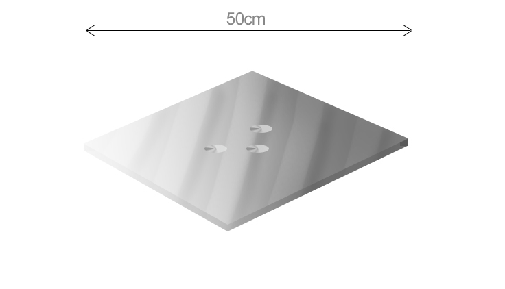 Replacement Cyclops 50cm Diameter Square or Round Glass Table tops - toughened smoked glass